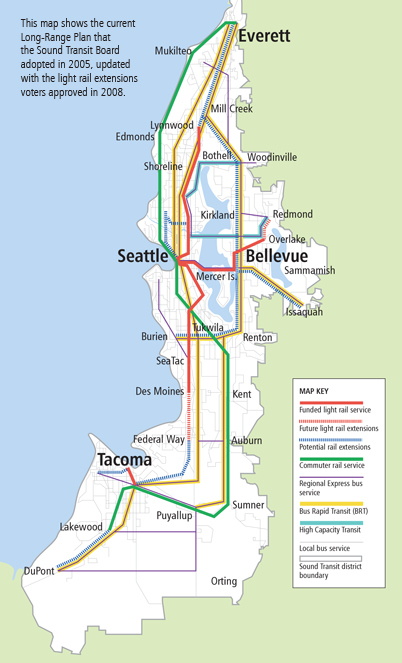 Sound Transit 2005 Long Range Plan Map
